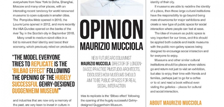 Maurizio Mucciola column about museums going beyond exhibitions