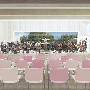 A small music hall<br />Valsolda, Italy